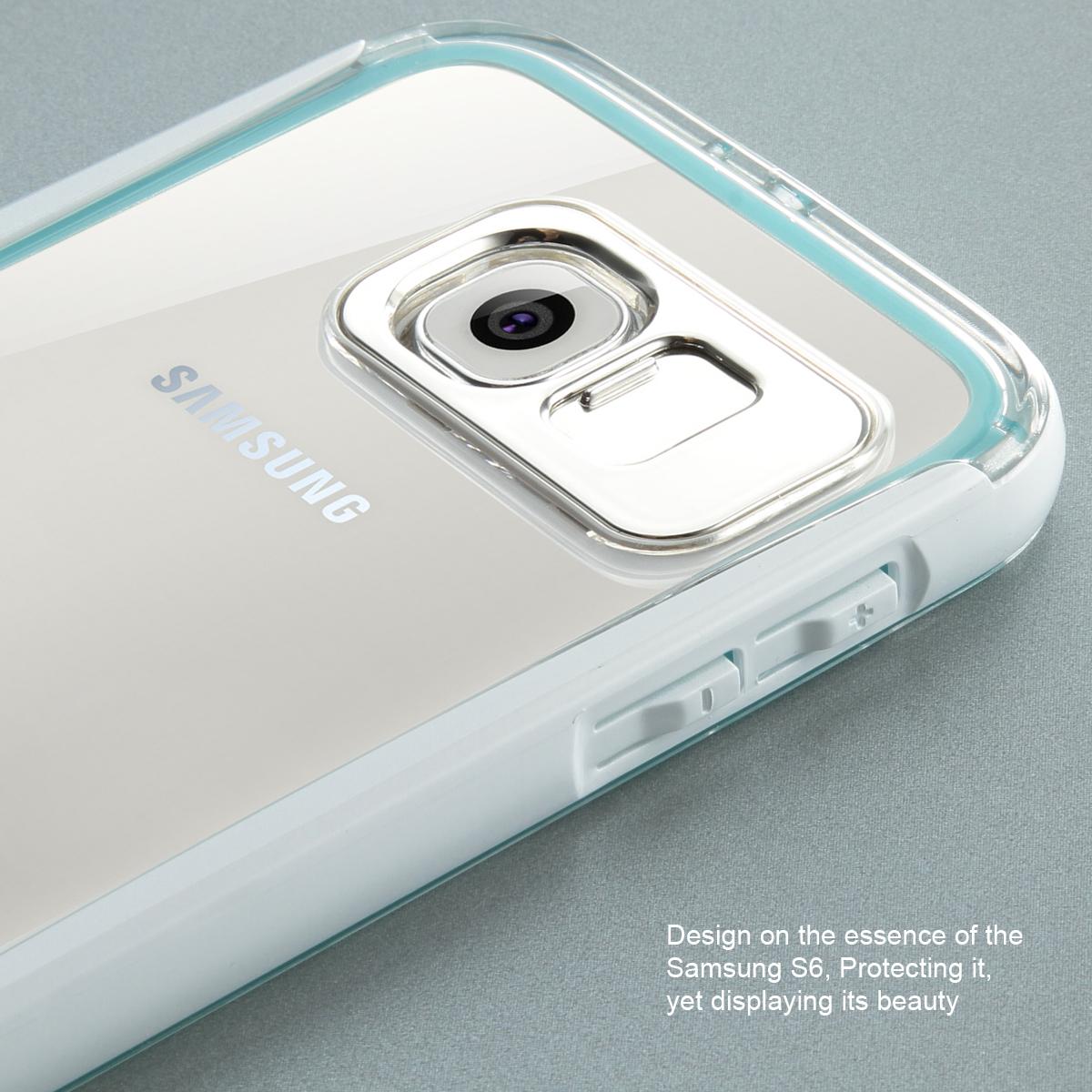 huge discount a28a8 303f8 Details about Samsung GalaxyS6 LED Case Flash Light Up Shockproof Rubber  Defender Bumper Cover