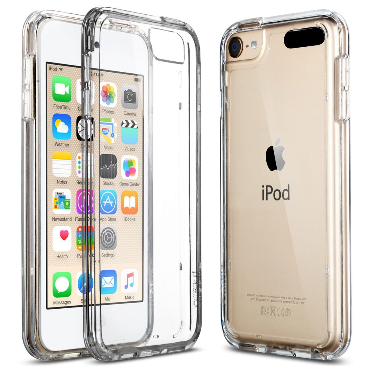 finest selection 26d37 b627a Details about iPod Touch 5th/6th Gen Case Crystal CLEAR SLIM Shockproof  Bumper Silicone Cover