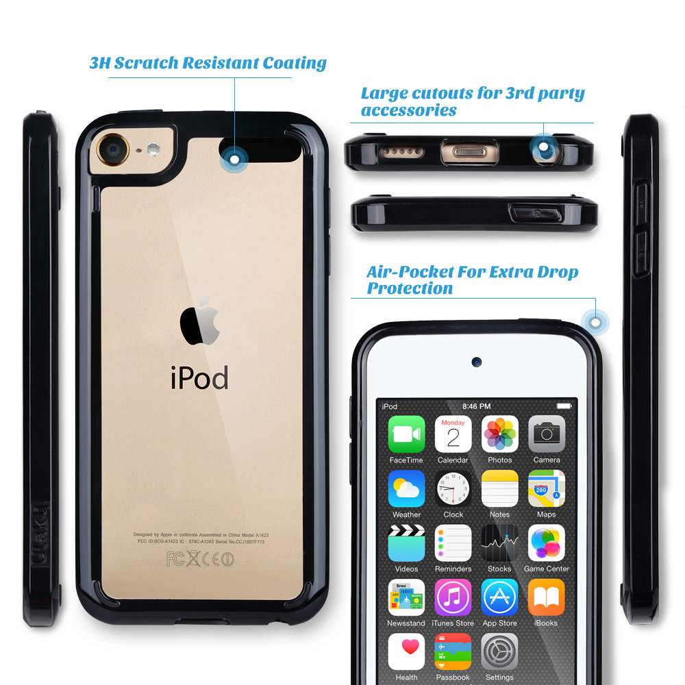For-iPod-Touch-5-6th-7-Gen-Crystal-Clear-Back-Shockproof-Bumper-Hard-Case-Cover thumbnail 5