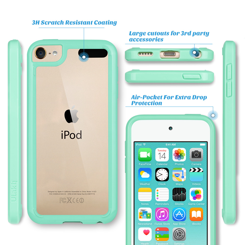 For-iPod-Touch-5-6th-7-Gen-Crystal-Clear-Back-Shockproof-Bumper-Hard-Case-Cover thumbnail 42
