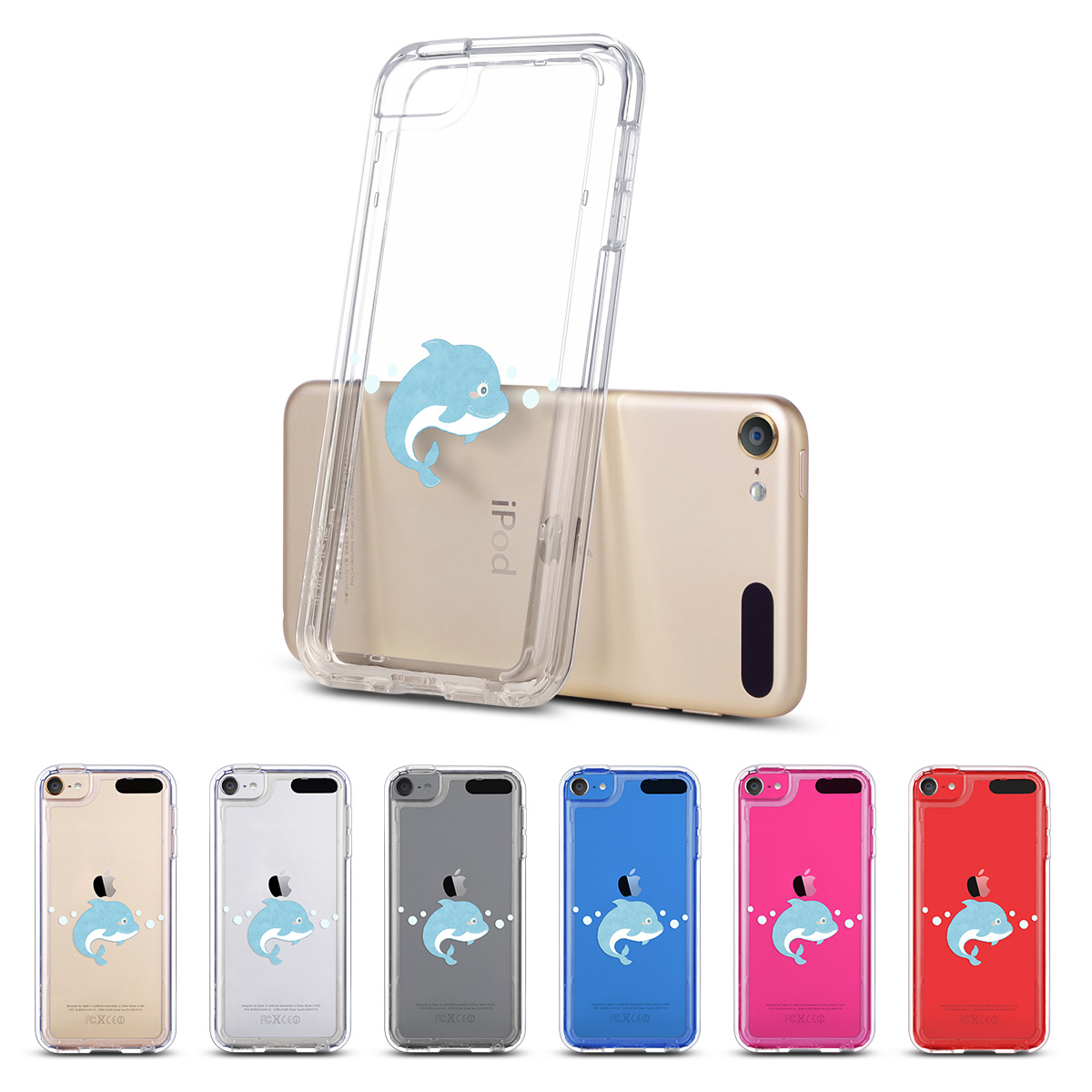 best website 374c4 ed792 Details about For iPod Touch 5 6th Gen Crystal Clear Back Shockproof Bumper  Hard Case Cover