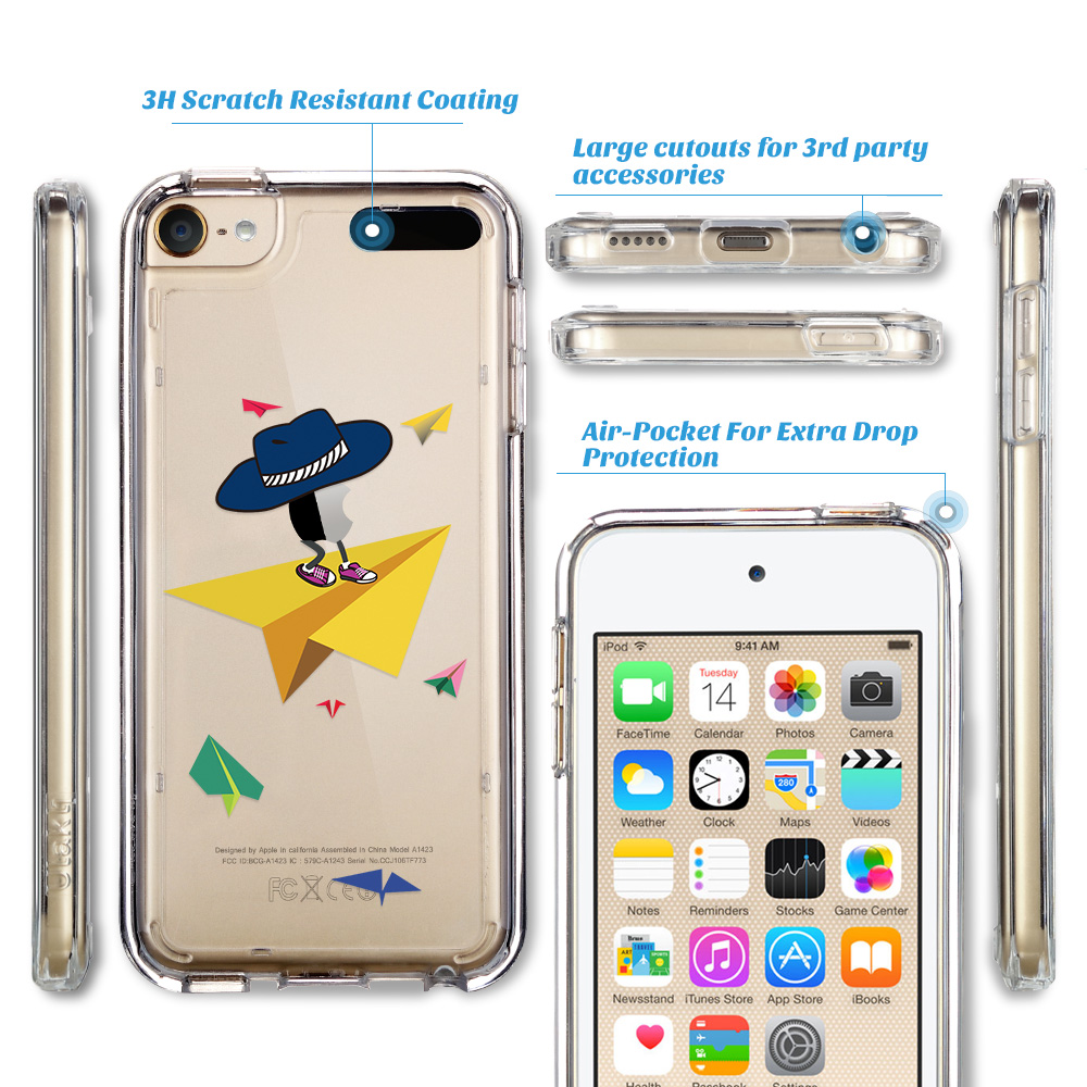 For-iPod-Touch-5-6th-7-Gen-Crystal-Clear-Back-Shockproof-Bumper-Hard-Case-Cover thumbnail 60