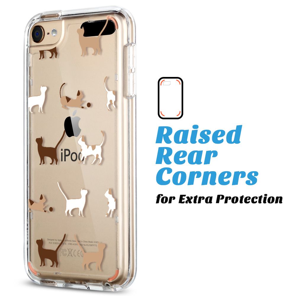 For-iPod-Touch-5-6th-7-Gen-Crystal-Clear-Back-Shockproof-Bumper-Hard-Case-Cover thumbnail 10
