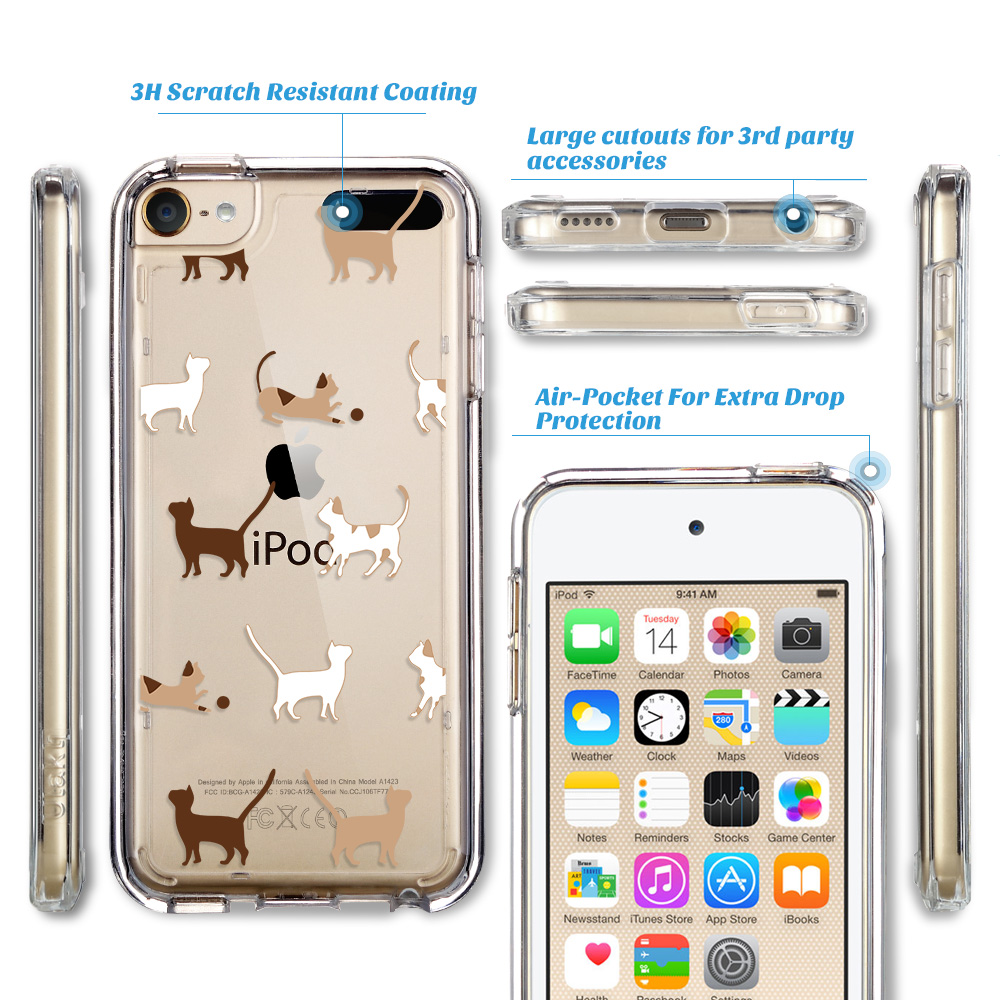 For-iPod-Touch-5-6th-7-Gen-Crystal-Clear-Back-Shockproof-Bumper-Hard-Case-Cover thumbnail 13