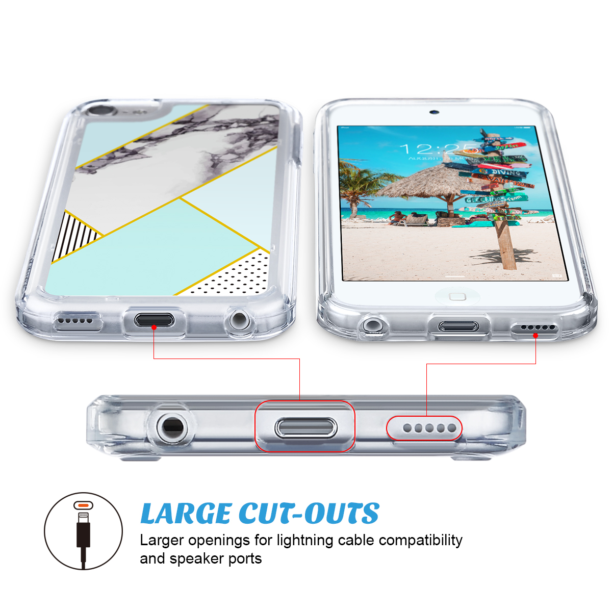 For-iPod-Touch-5-6th-7-Gen-Crystal-Clear-Back-Shockproof-Bumper-Hard-Case-Cover thumbnail 48