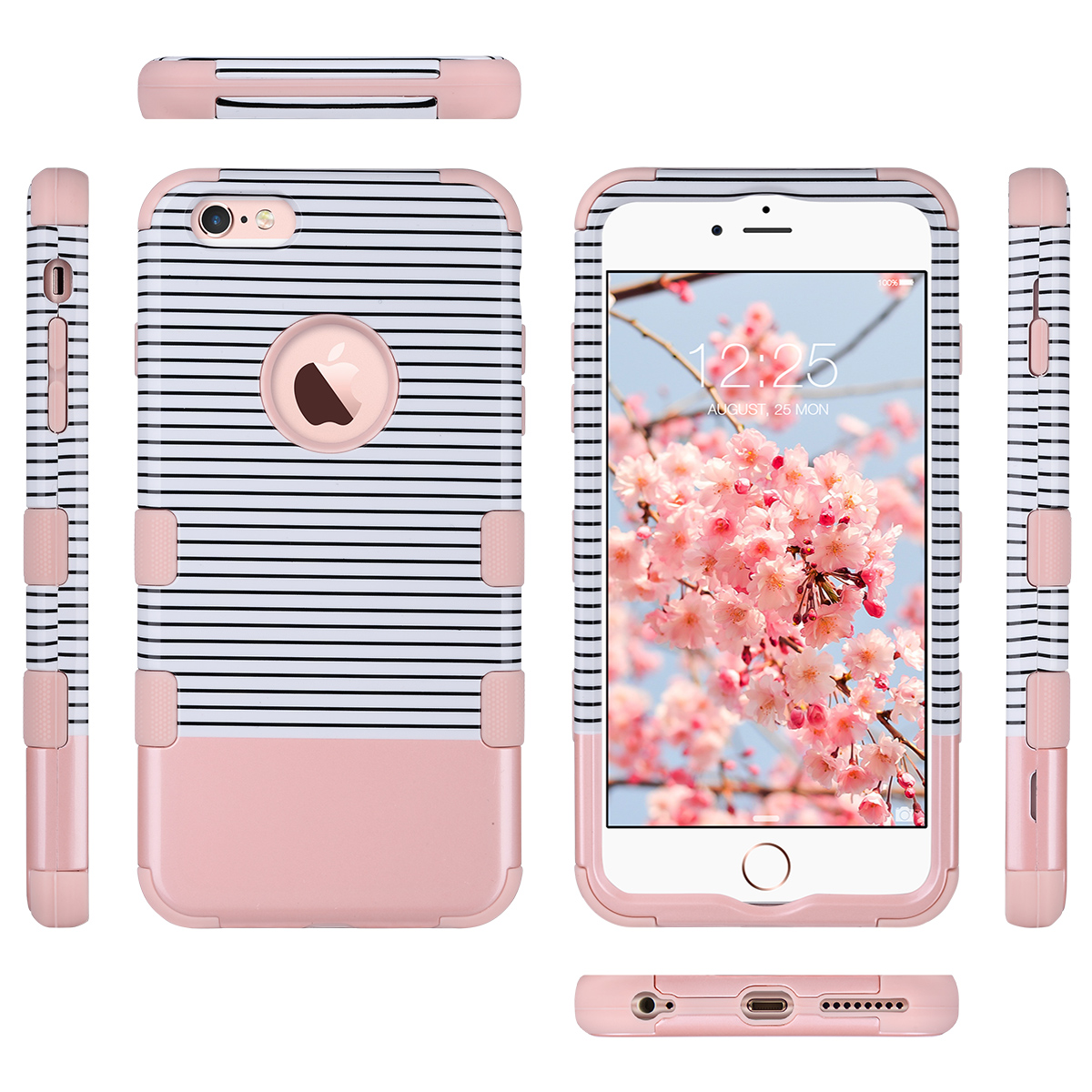 for iphone 6 plus 6s plus rose gold hybrid heavy duty shockproof protective case ebay. Black Bedroom Furniture Sets. Home Design Ideas