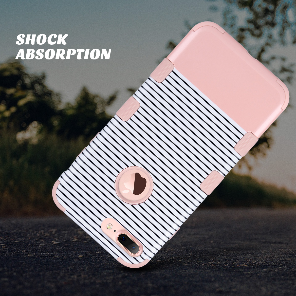 Hybrid Heavy Duty Shockproof Full-Body Protective Case for iPhone X ...
