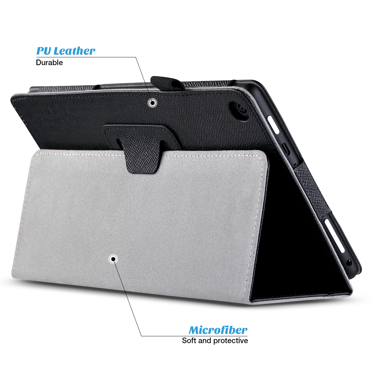 Flip-Wallet-Leather-Case-Cover-For-All-New-Amazon-Fire-HD-8-2016-Release-6th-Gen thumbnail 3