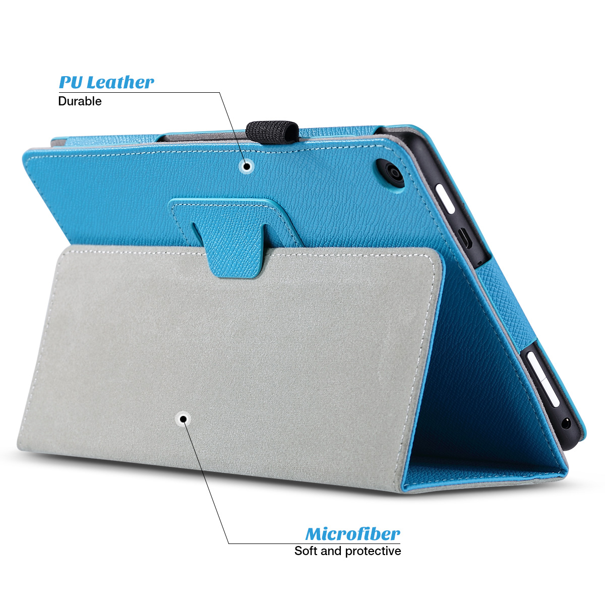 Flip-Wallet-Leather-Case-Cover-For-All-New-Amazon-Fire-HD-8-2016-Release-6th-Gen thumbnail 11