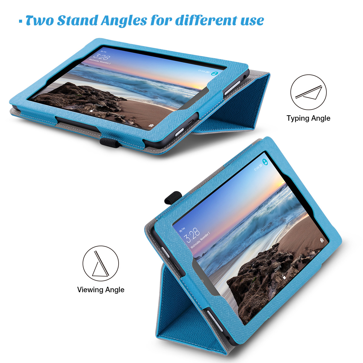Flip-Wallet-Leather-Case-Cover-For-All-New-Amazon-Fire-HD-8-2016-Release-6th-Gen thumbnail 13