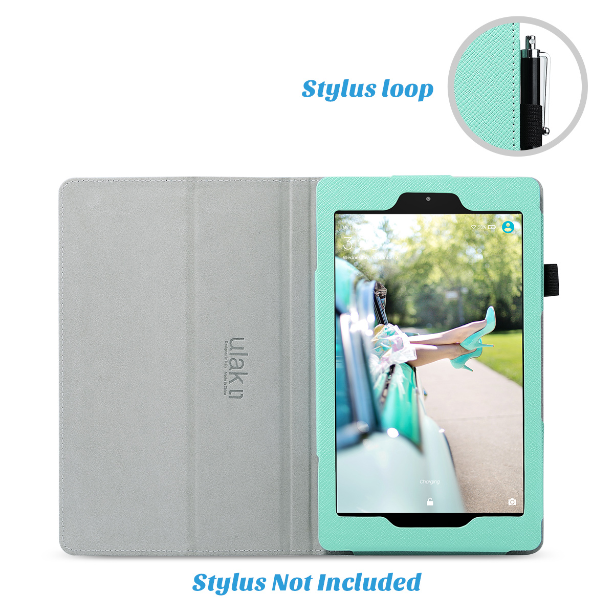 Flip-Wallet-Leather-Case-Cover-For-All-New-Amazon-Fire-HD-8-2016-Release-6th-Gen thumbnail 41