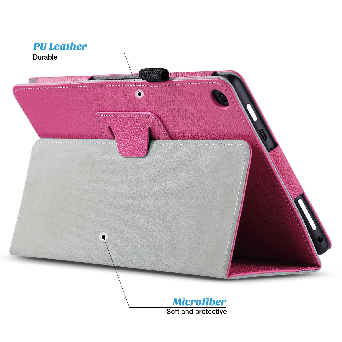 Flip-Wallet-Leather-Case-Cover-For-All-New-Amazon-Fire-HD-8-2016-Release-6th-Gen thumbnail 51