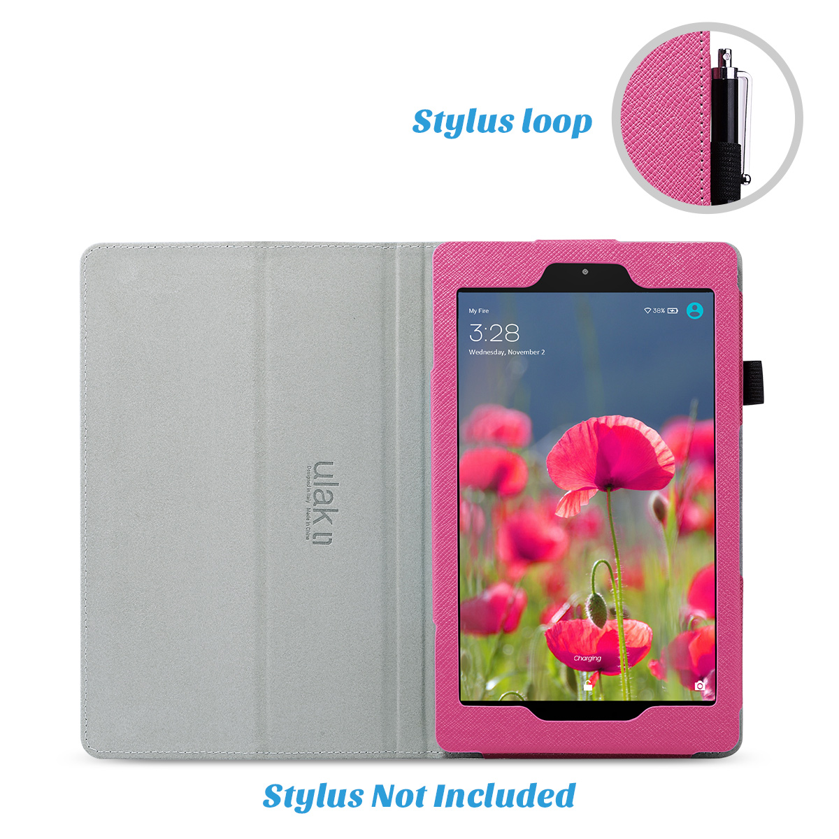 Flip-Wallet-Leather-Case-Cover-For-All-New-Amazon-Fire-HD-8-2016-Release-6th-Gen thumbnail 57