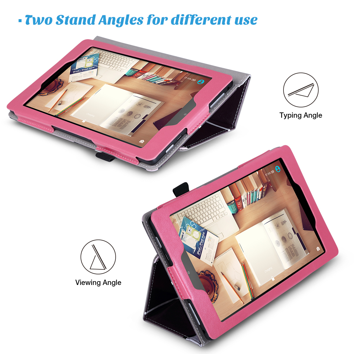 Flip-Wallet-Leather-Case-Cover-For-All-New-Amazon-Fire-HD-8-2016-Release-6th-Gen thumbnail 21