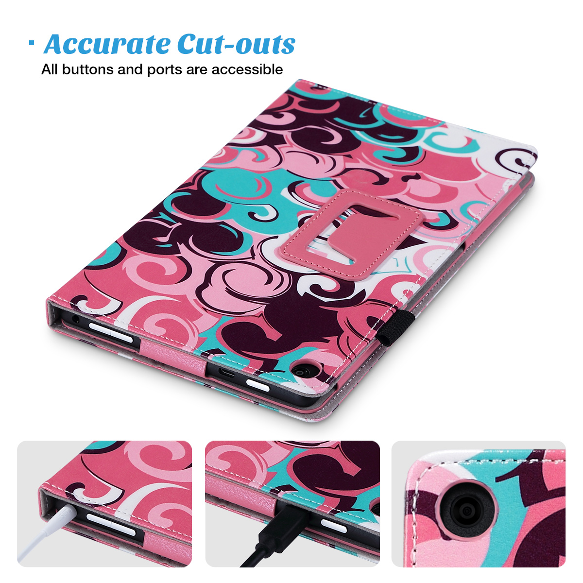 Flip-Wallet-Leather-Case-Cover-For-All-New-Amazon-Fire-HD-8-2016-Release-6th-Gen thumbnail 28