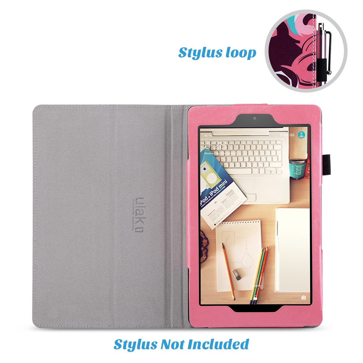 Flip-Wallet-Leather-Case-Cover-For-All-New-Amazon-Fire-HD-8-2016-Release-6th-Gen thumbnail 32