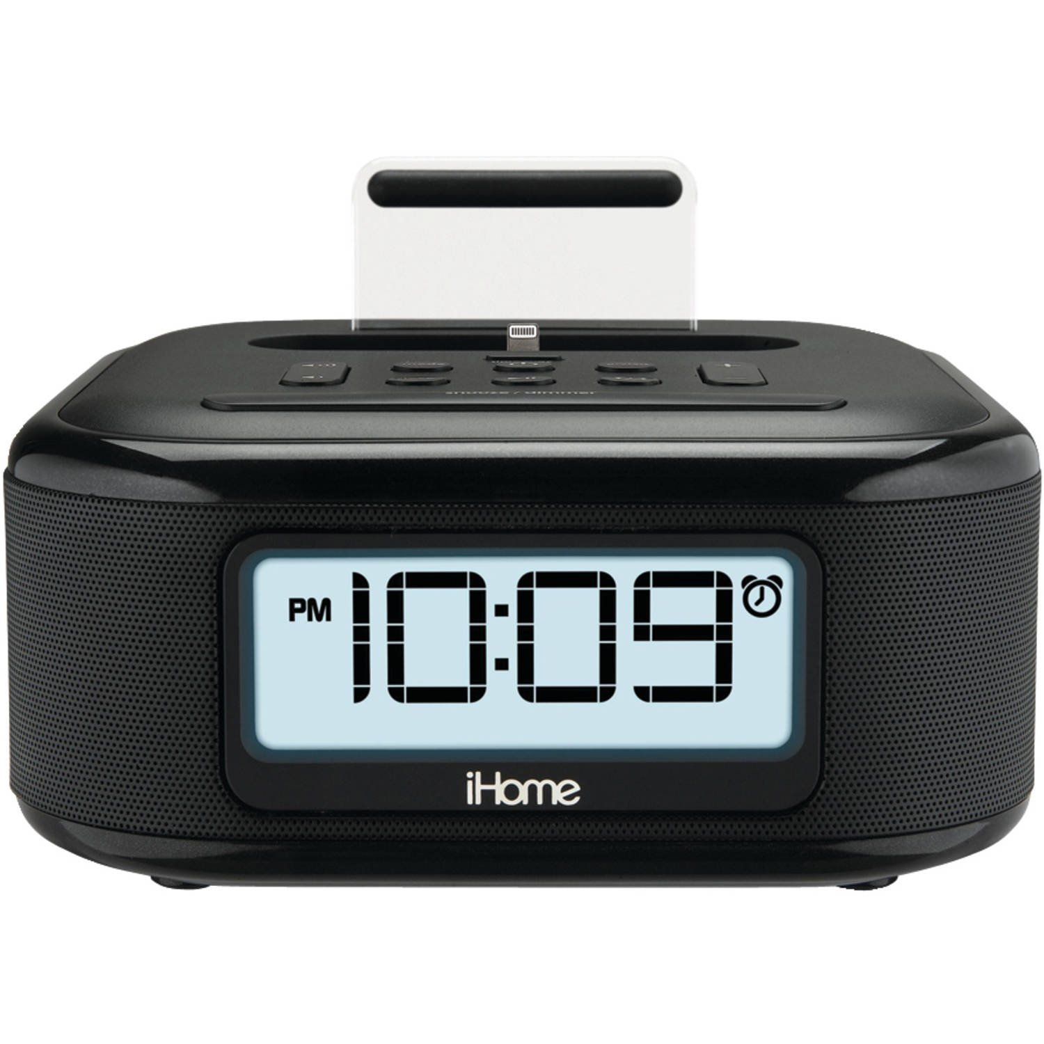Details about iHome Stereo FM Clock Radio w/ Lightning Dock Charge/Play &  Aux Input for iPhone