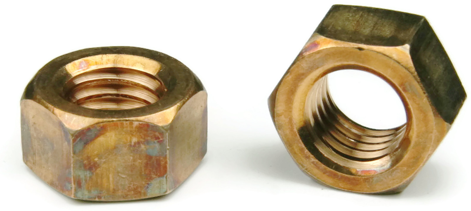 Qty 25 Silicon Bronze Finished Hex Nut UNC 7//16-14