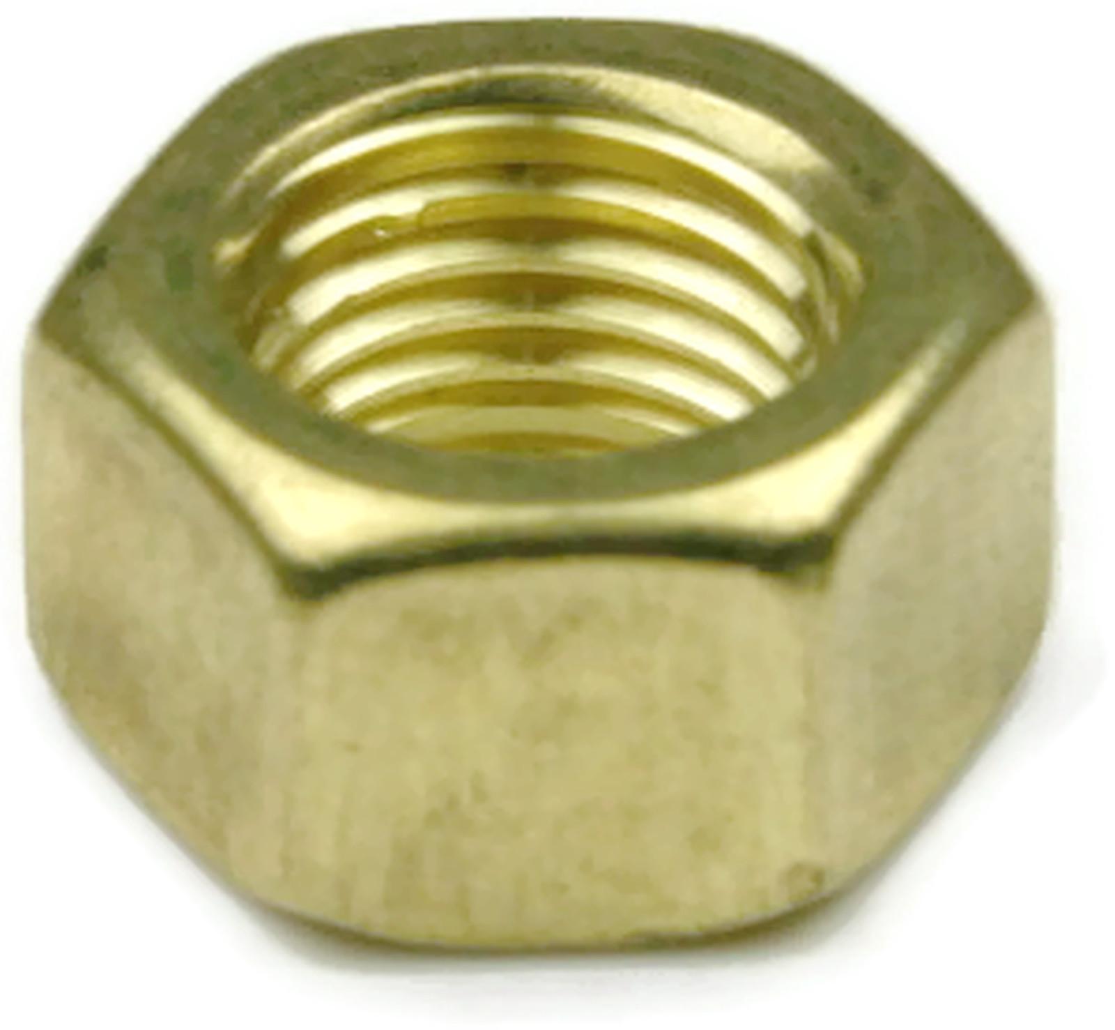 Qty 25 Brass Hex Nut UNF 1//4-28
