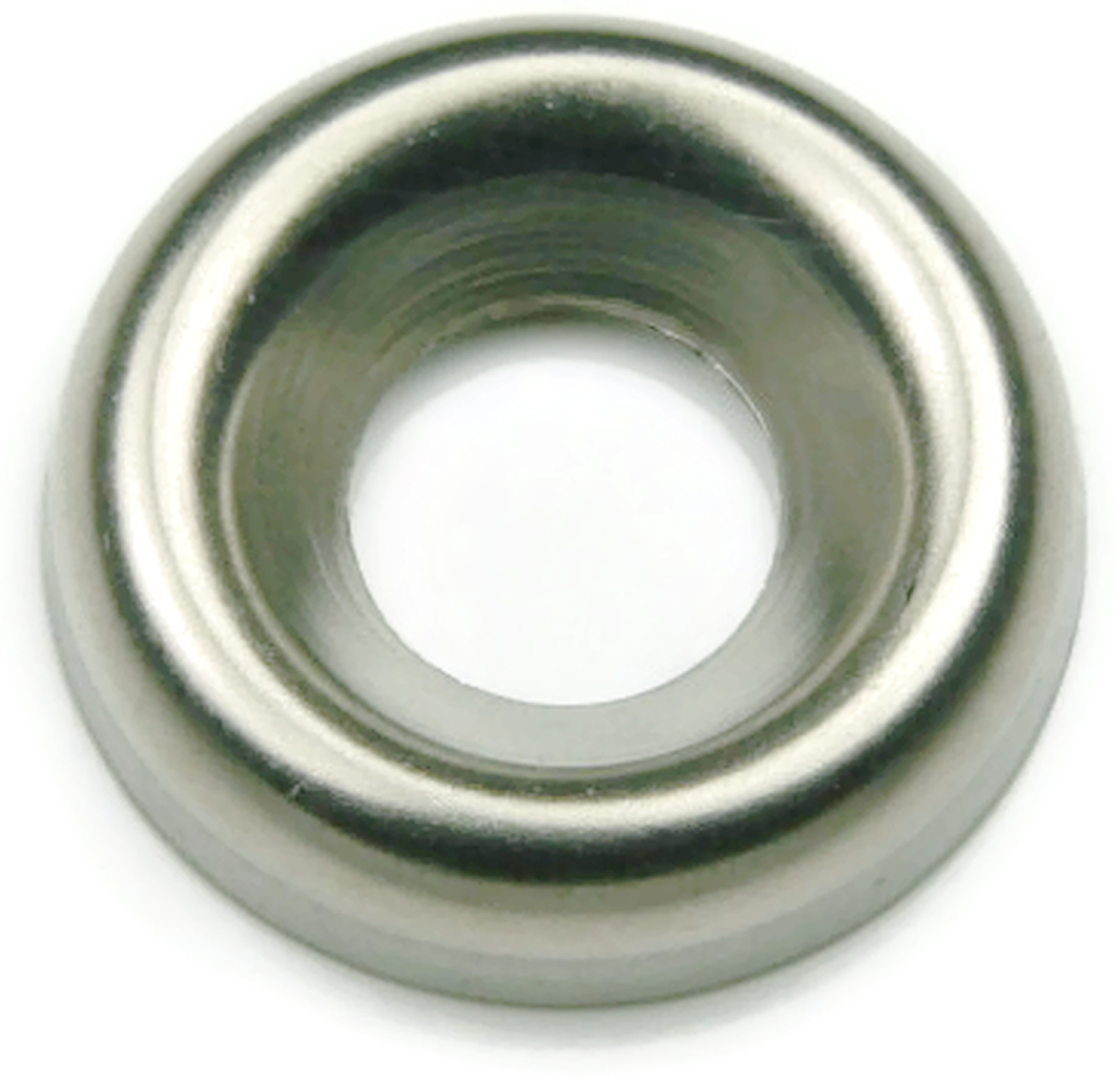 #10 Qty-250 Finishing Cup Washer 410 Stainless Steel