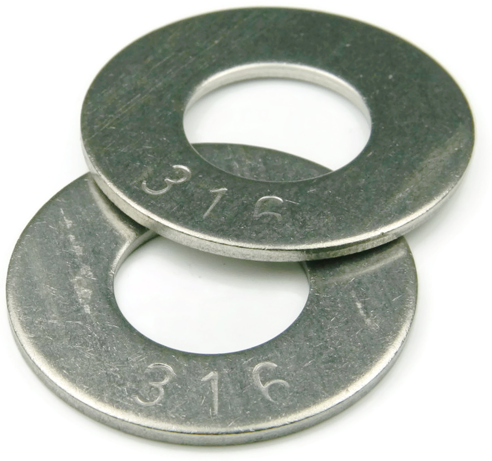 316 Stainless Steel Flat Washer 1//4 QTY 50