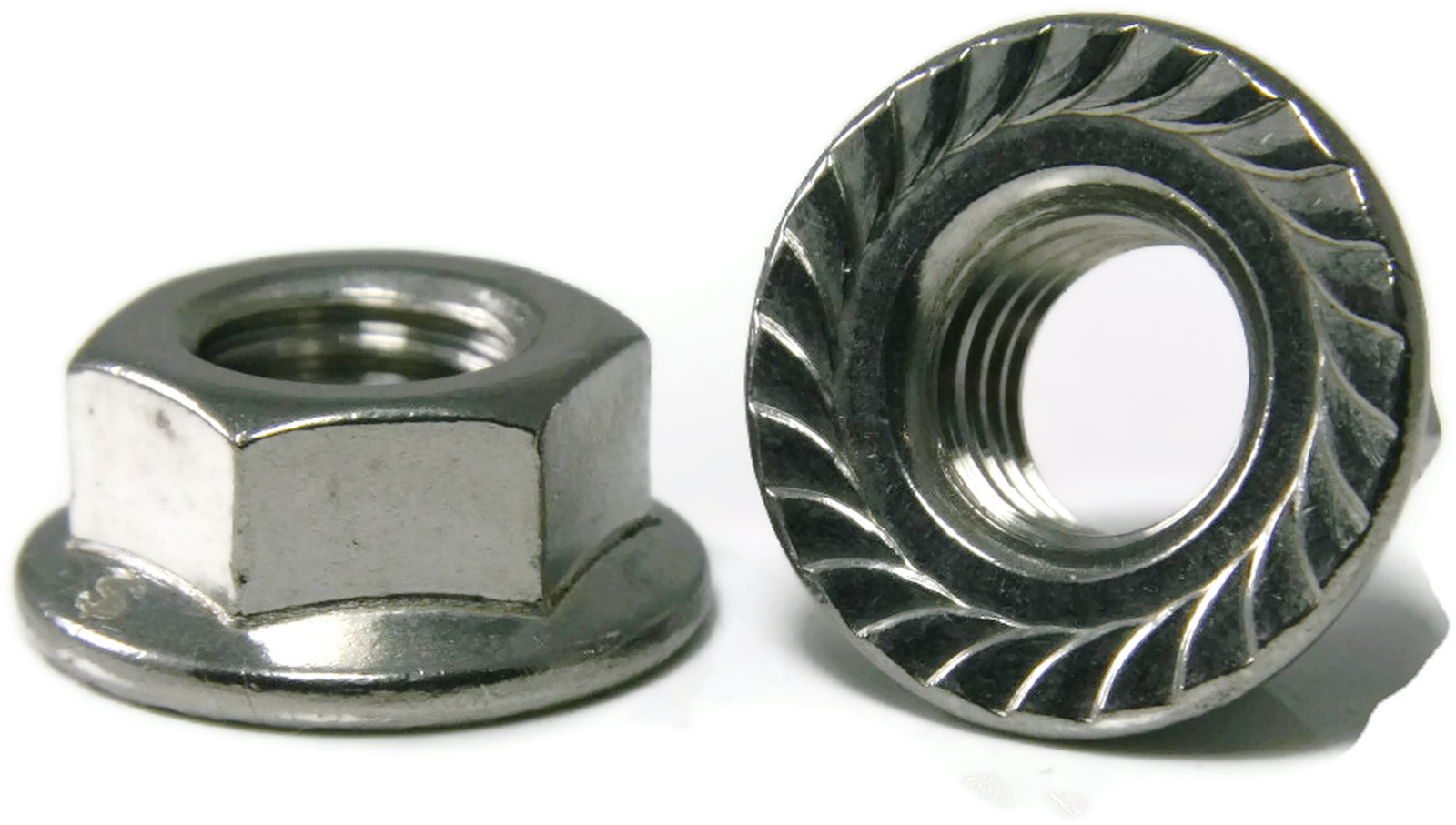 Stainless Steel Hex Flange Nut Serrated Unc 5 16 18 Qty