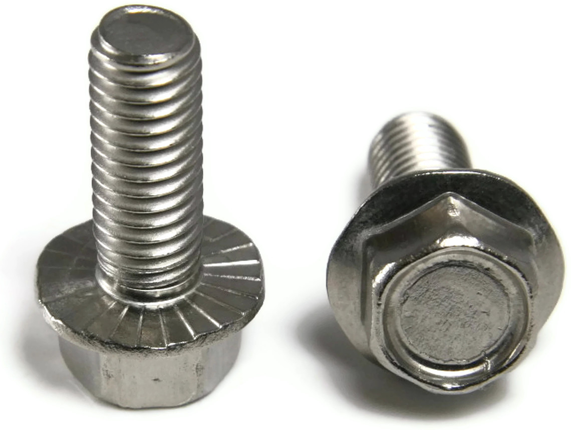Stainless Steel Hex Cap Serrated Flange Bolt Ft Unc 5 16