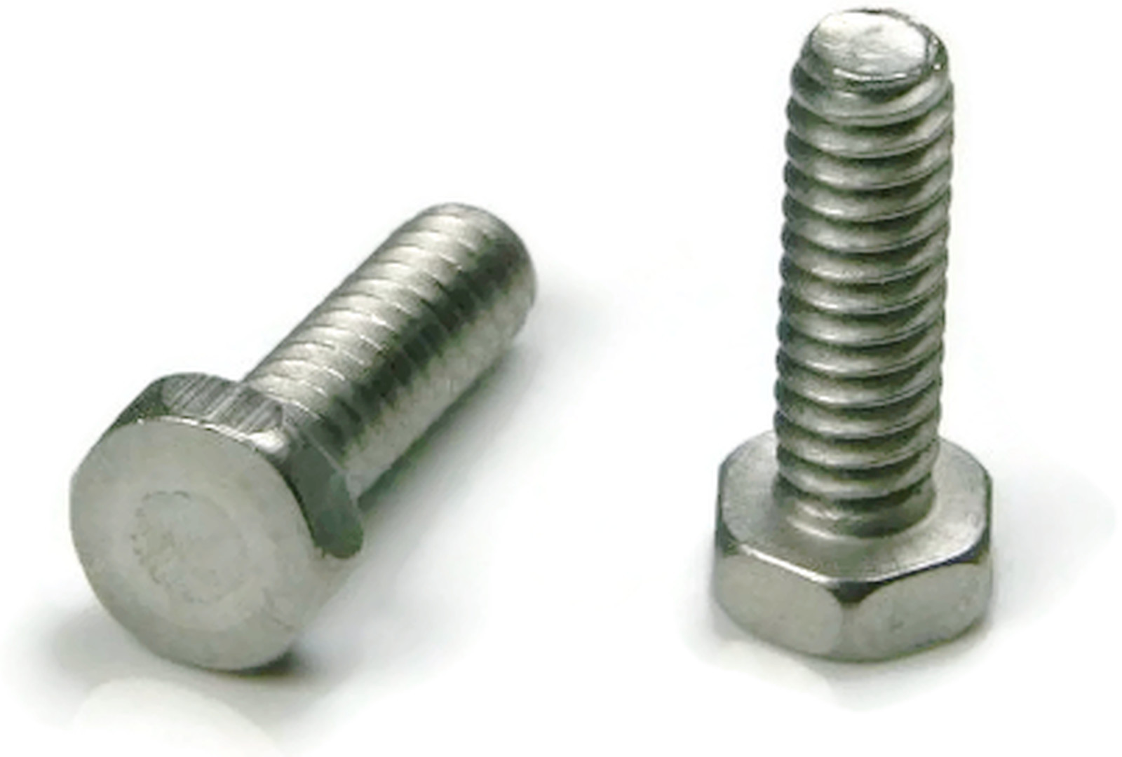 8-32 X 5//8 No Slot Hex Head Machine Screw 18-8 Stainless Steel Package Qty 100
