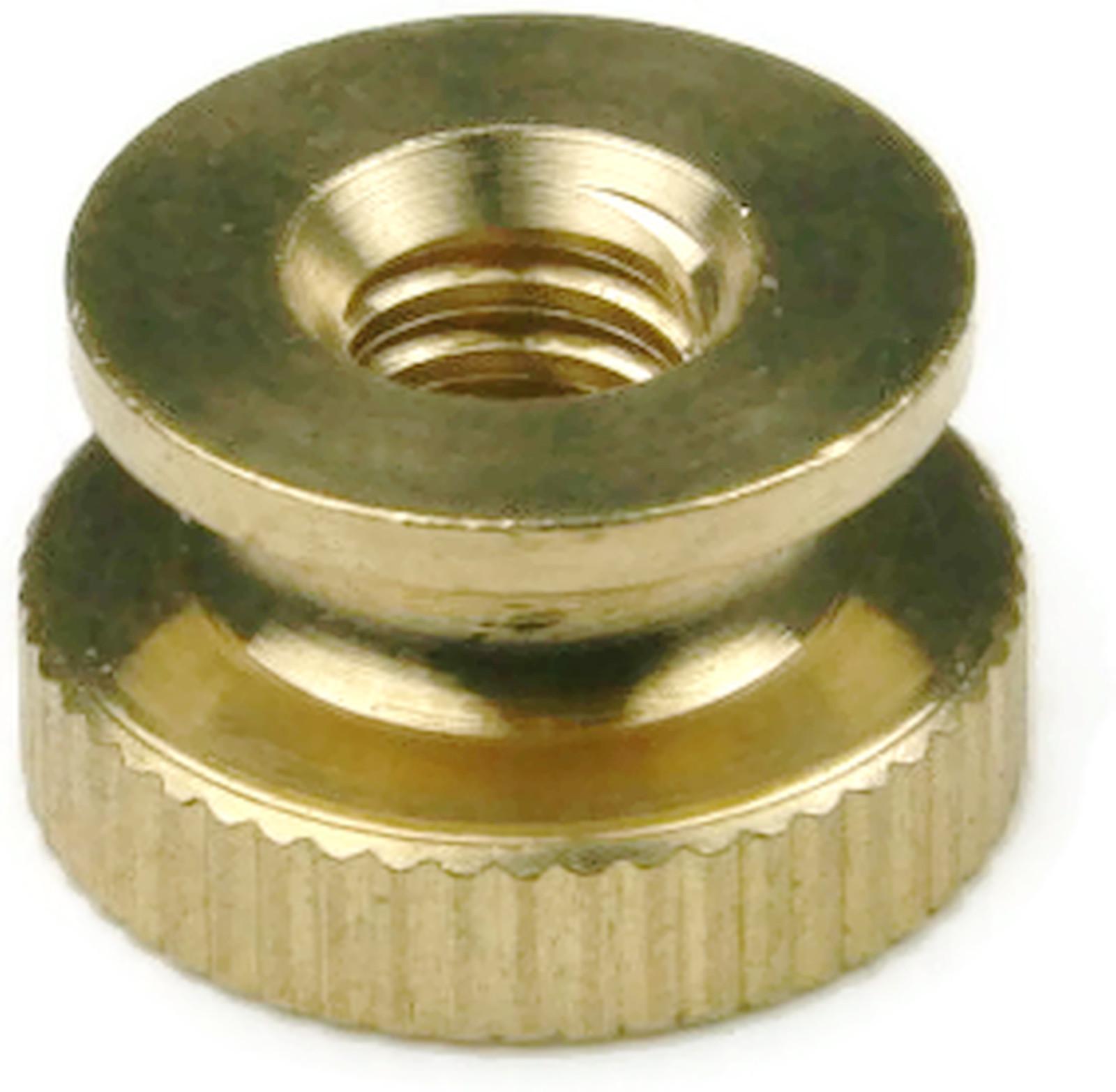 Brass Solid Knurled Thumb Nut Unc 8 32 Qty 25