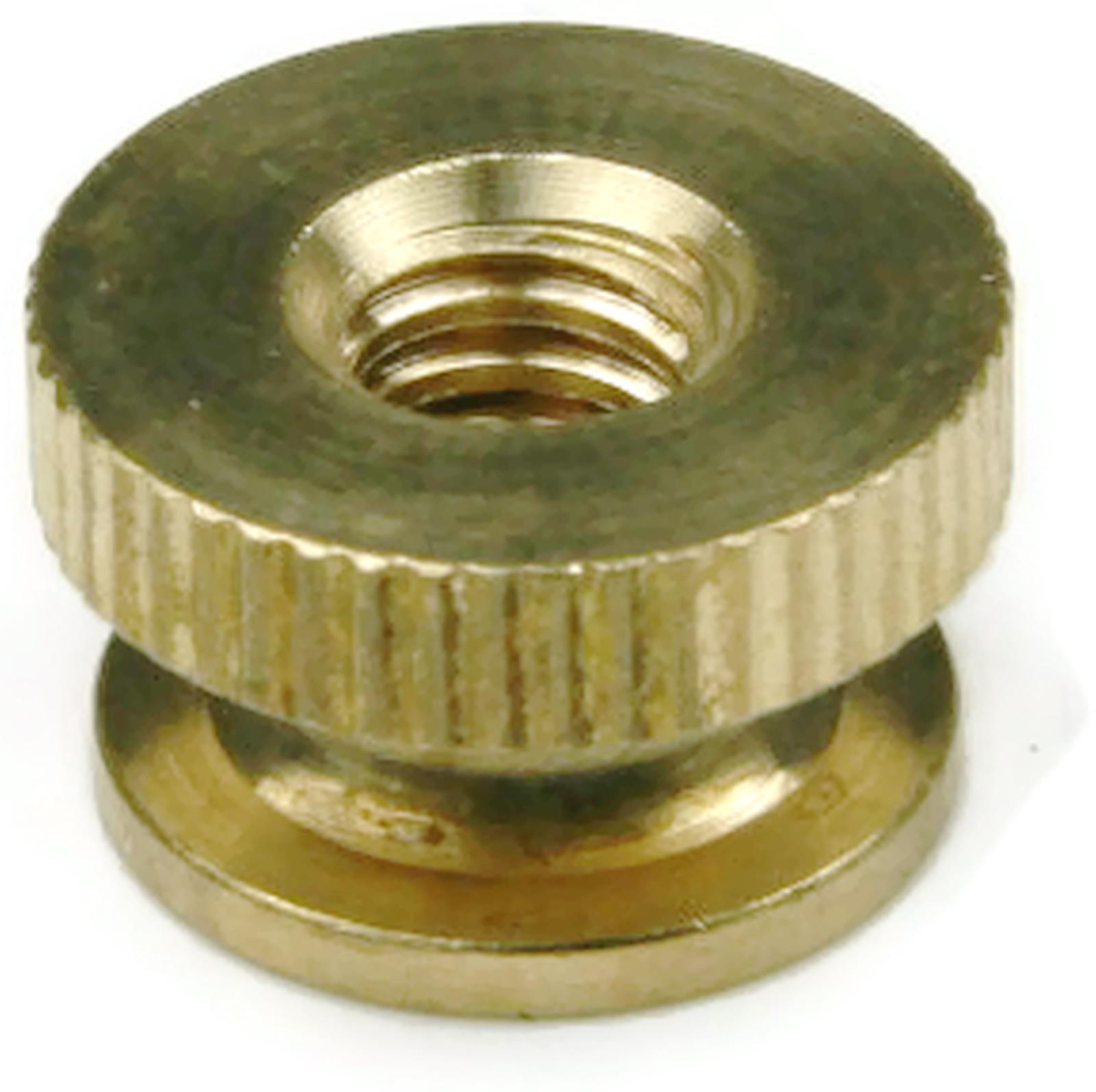 Brass Solid Knurled Thumb Nut Unc 1 4 20 Qty 25 Ebay