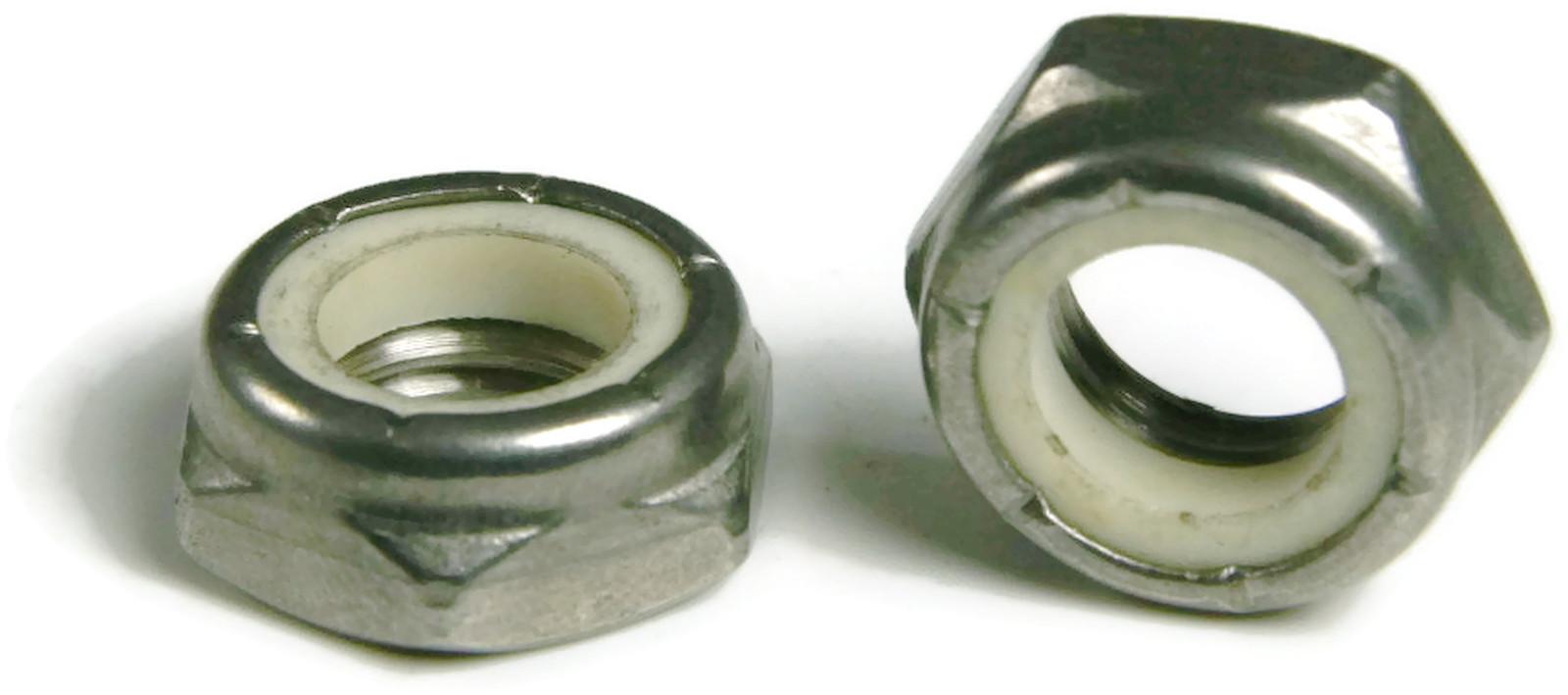 316 Stainless Steel Nylon insert Jam Thin Lock Nut UNC 1//4-20 Qty 100