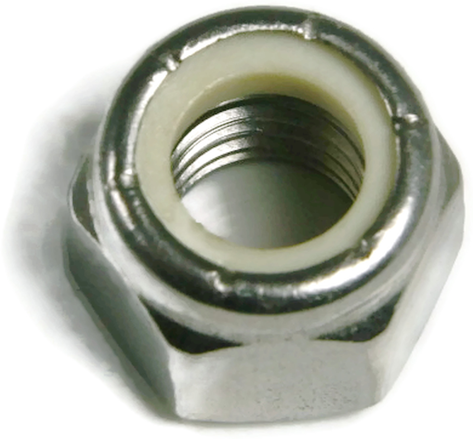 Stainless Steel Fine Thread nylon insert hex lock nut 1//4-28 Qty 100
