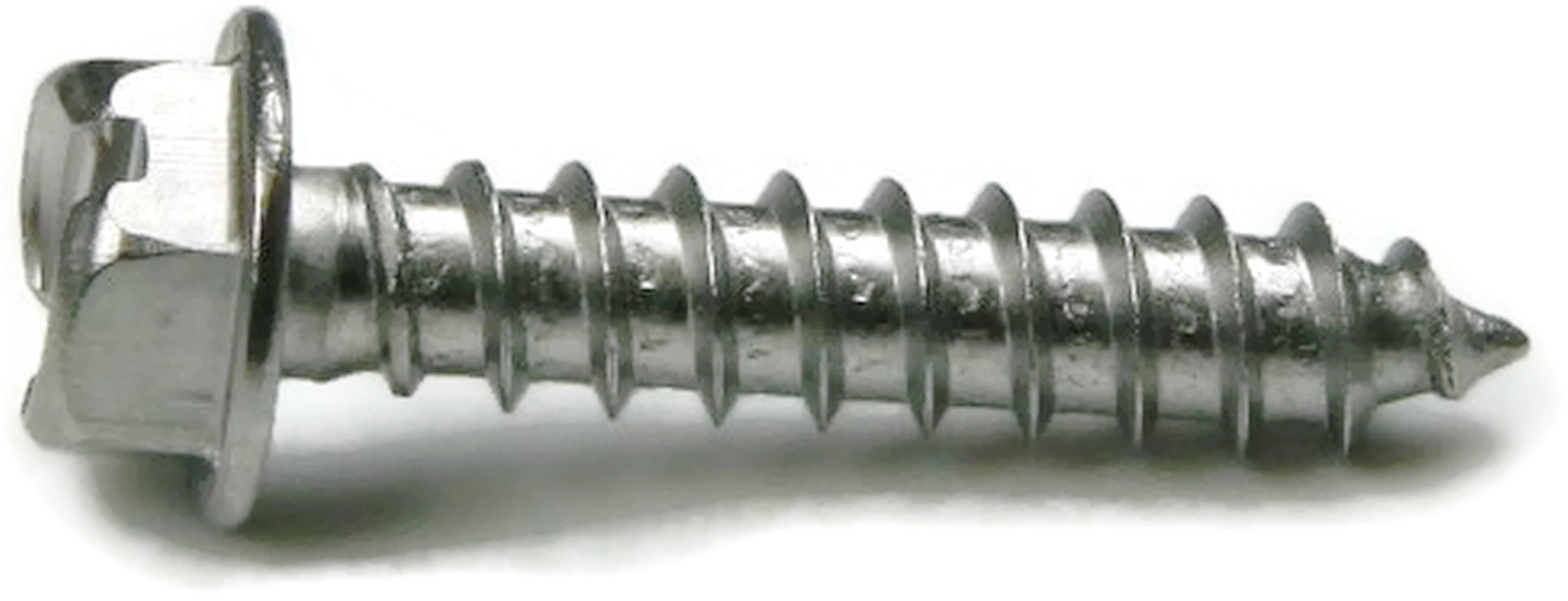 "qty 100 #8 x 3//4/"" Slotted Indented Hex Washer Head Sheet Metal Screw Zinc"