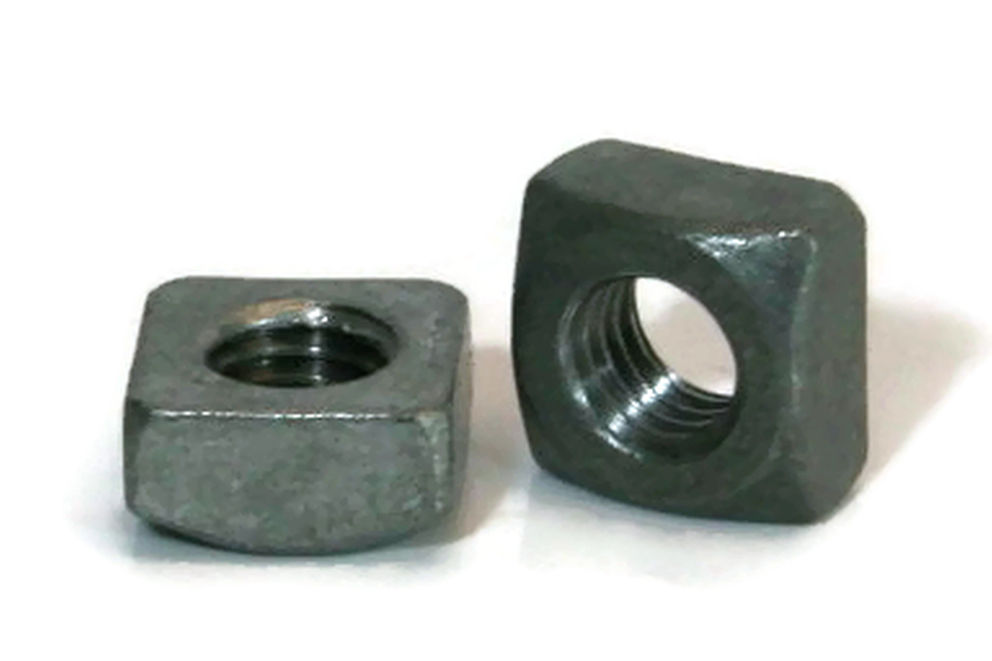 Square Nuts Hot Dipped Galvanized Grade 2-3//4-10 UNC Qty-25