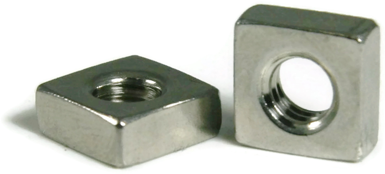Stainless Steel Square Nuts Unf 10 32 Qty 100 Ebay