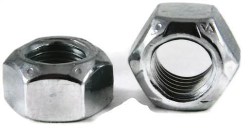 1//4-20 Coarse Thread Grade C Stover All Metal Locknut Medium Carbon Steel Zinc Plated and Wax Pk 100