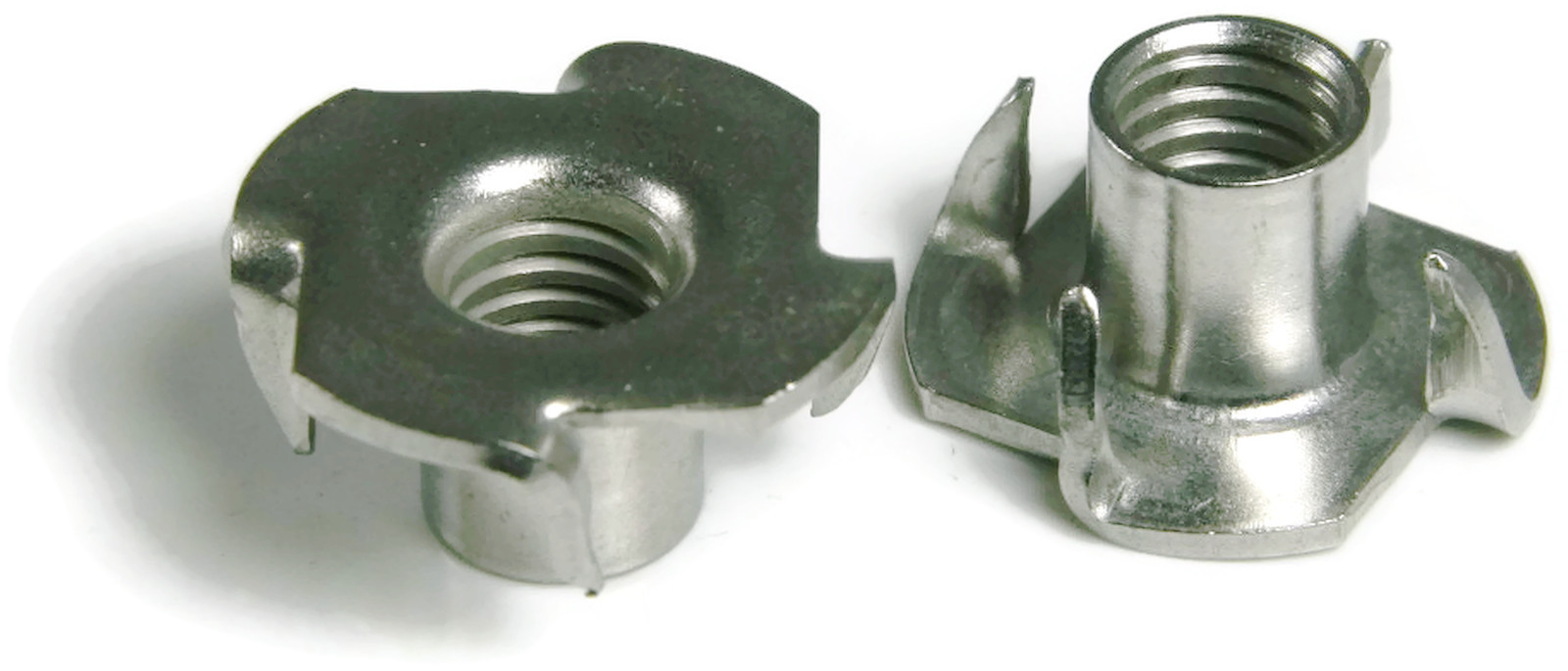 Stainless Steel T Nut Unc 3 Prong 8 32 X 1 4 Qty 25