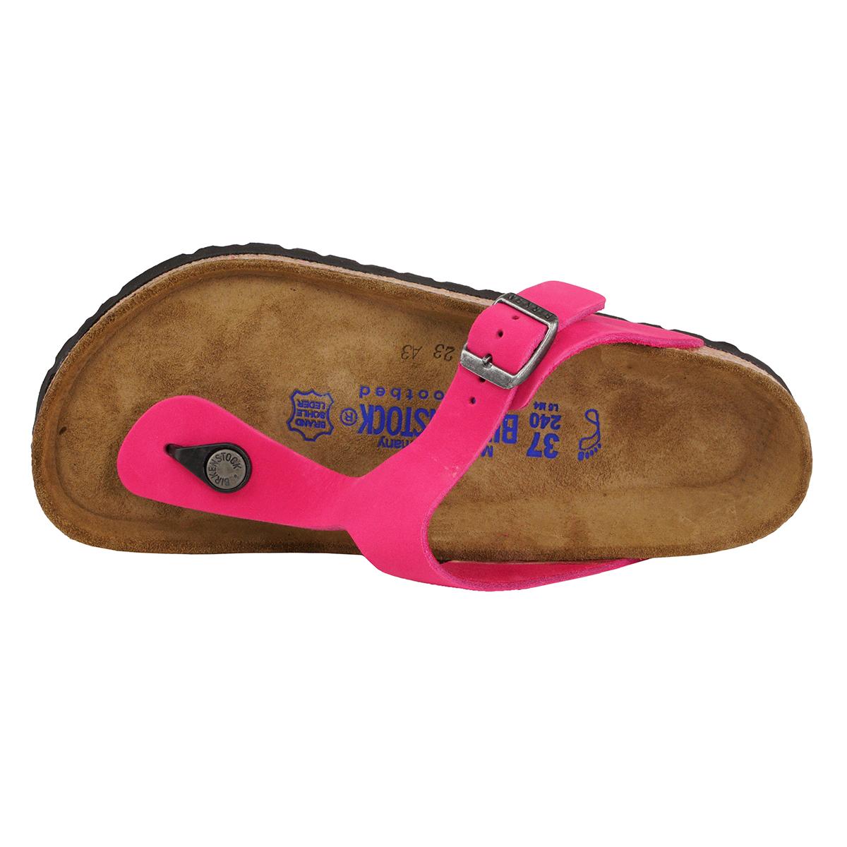 2c95419c2f5 Birkenstock Gizeh Soft Footbed Leather Sandals Pink 38 N ...