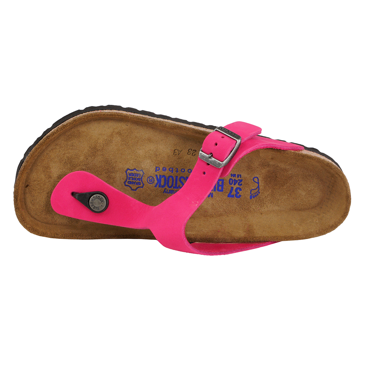 71eae6cc658 Birkenstock Gizeh Soft Footbed Leather Sandals Pink 38 N ...