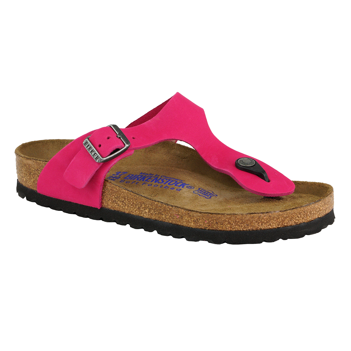 e2a80726c3c Details about Birkenstock Gizeh Soft Footbed Leather Sandals Pink 38 N