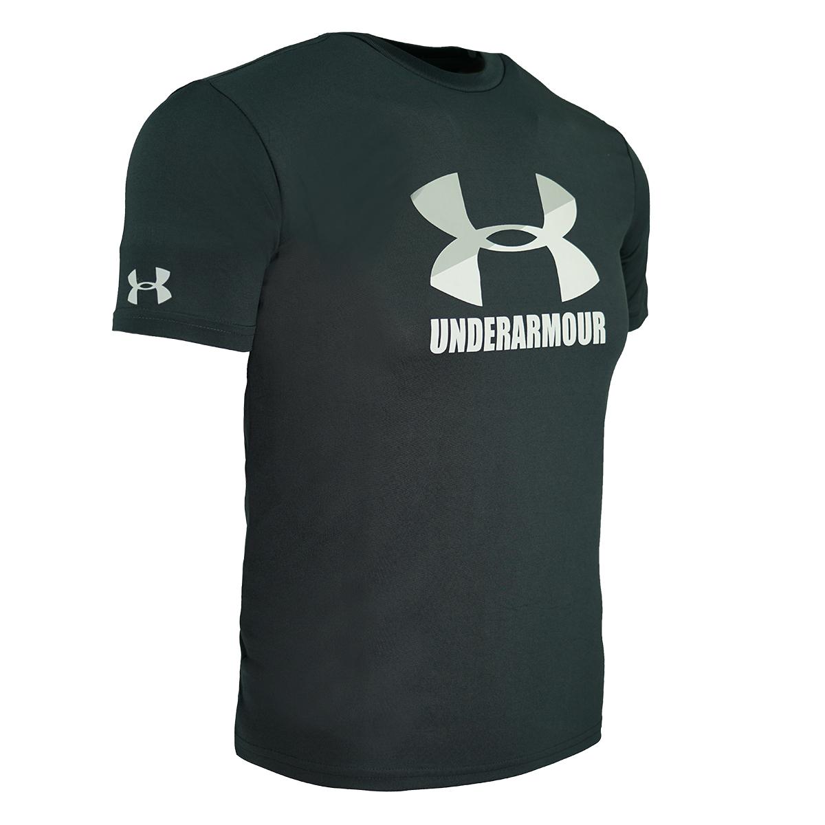 Under-Armour-Men-039-s-Fitted-Tech-Short-Sleeve-Logo-T-Shirt thumbnail 11