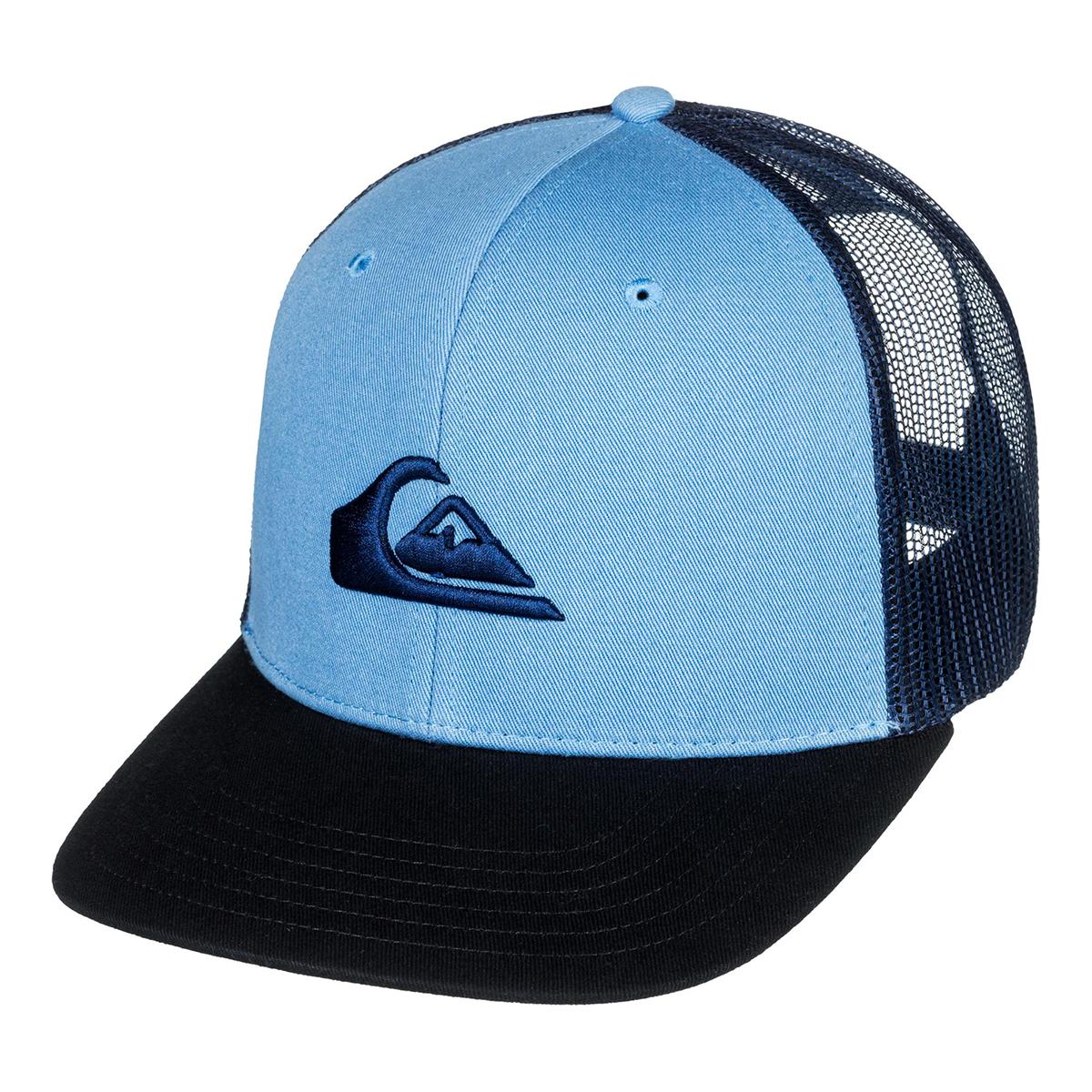 size 40 c2318 09bab Details about Quiksilver Men s Grounder Trucker Adjustable Hat Dusk Blue