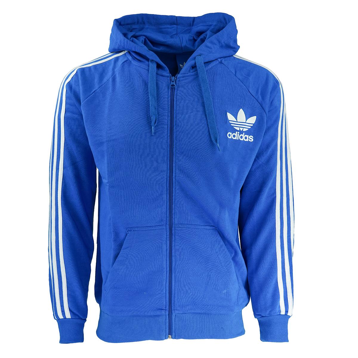 adidas Men s Originals Trefoil Zip Hoodie Royal Blue S 4056565735235 ... 7941bebf3
