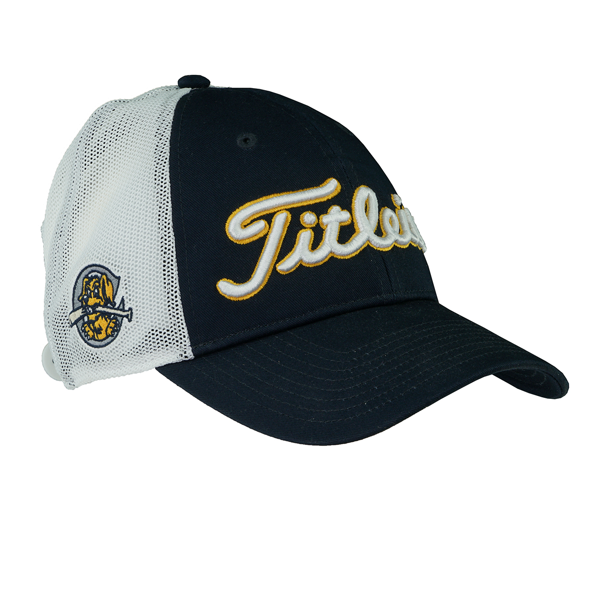 c63599e8 Details about Titleist Men's Collegiate Performance Hat Mesh Back River  Dogs Navy/White