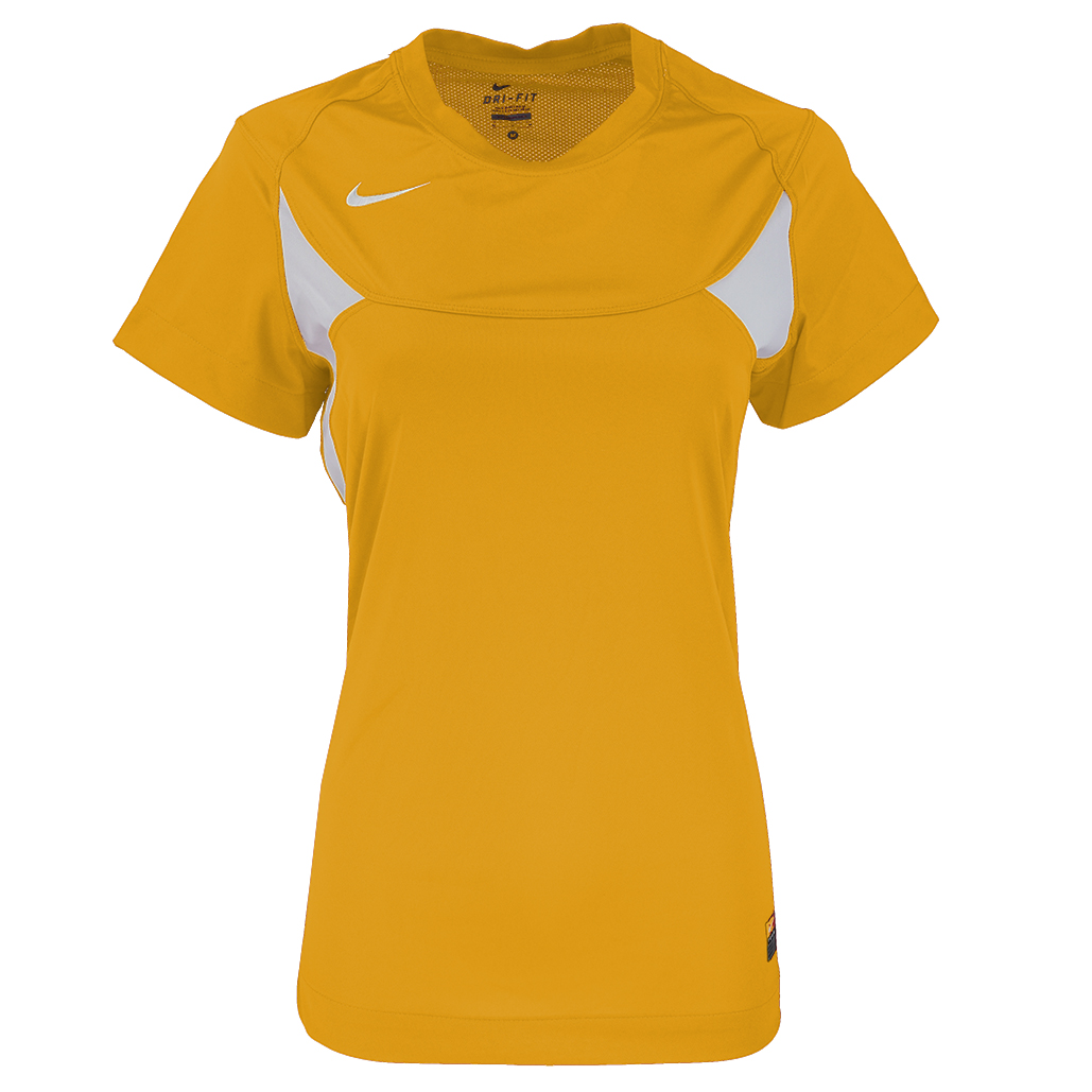 eb9d2af21df6 Details about Nike Women s Pasadena II Jersey Gold White S