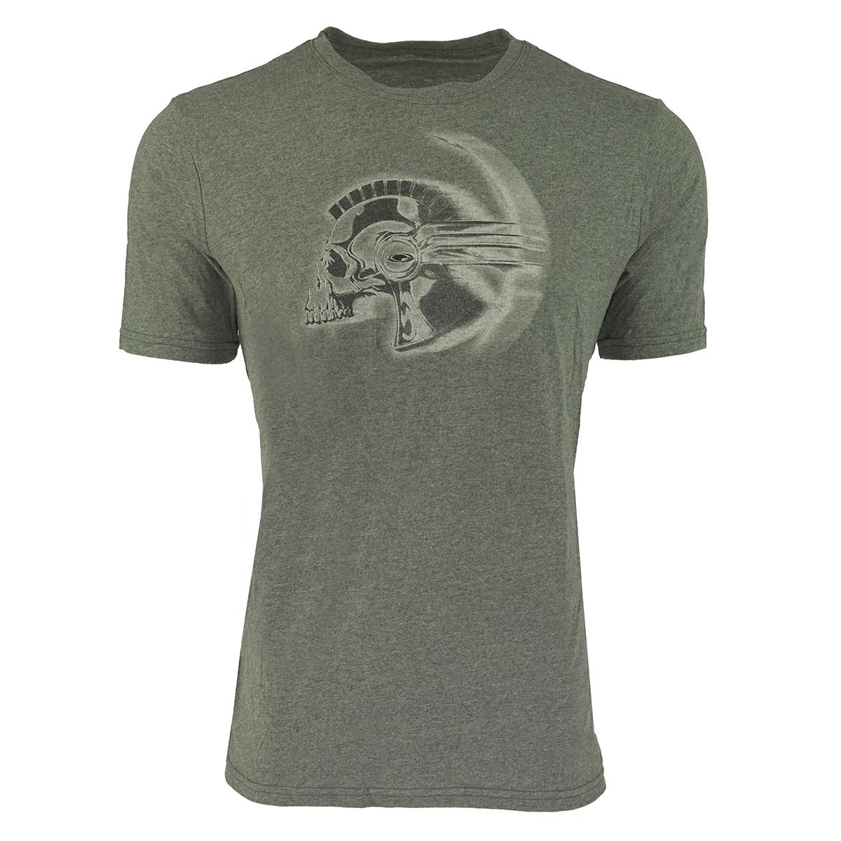 Oakley Men s Graphic Skull T-Shirt Grey Black White S 680193076848 ... f6fae6b5e5b