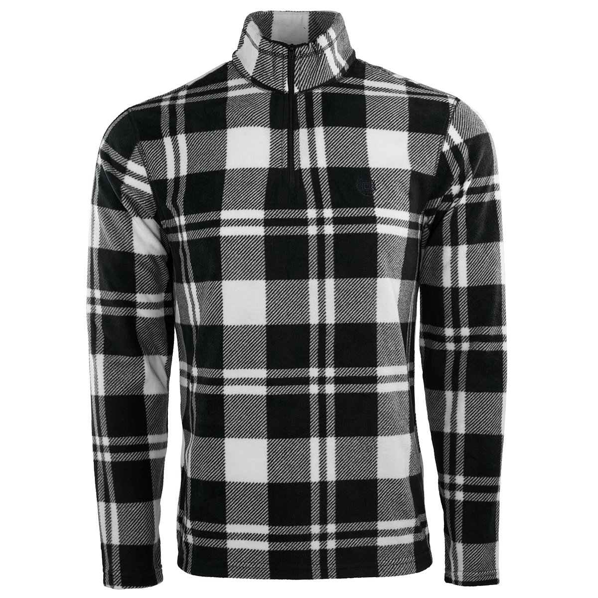 Chaps-Men-039-s-Fleece-Flannel-1-4-Zip-Jacket