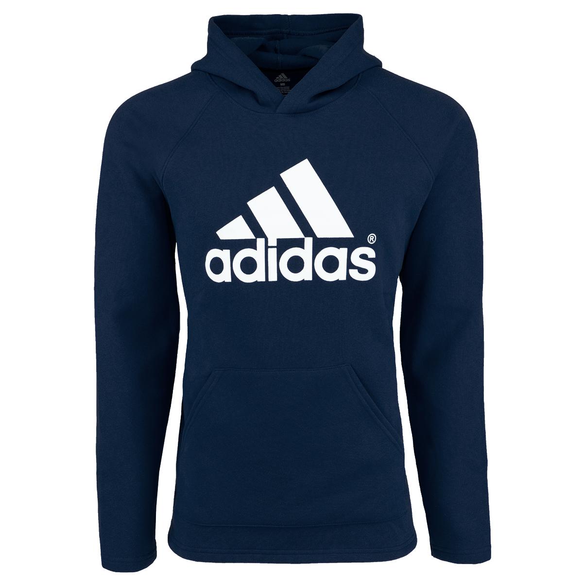 592c9343f adidas Men's Essential Linear Pullover Hoodie Navy M 682327014498 | eBay