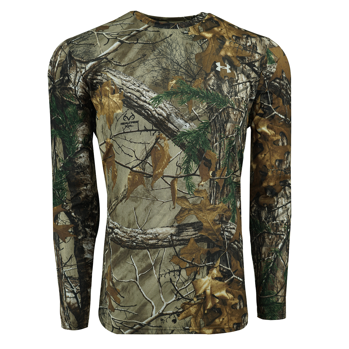 46498dba Under Armour Men's Heatgear Tech L/S T-Shirt Camo/Silver M | eBay