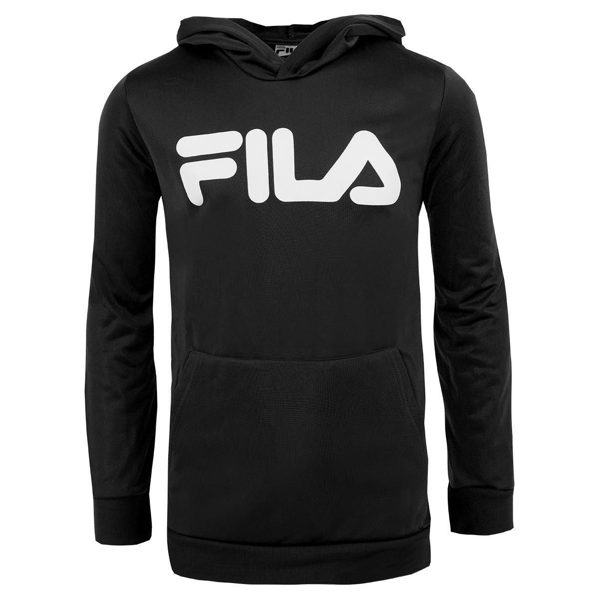 f96bca23 Details about Fila Boy's Classic Logo Hoodie Black/White M